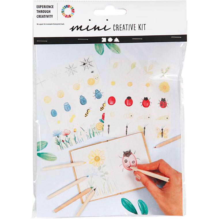 Mini kreative sæt tegn og mal | Notesbog