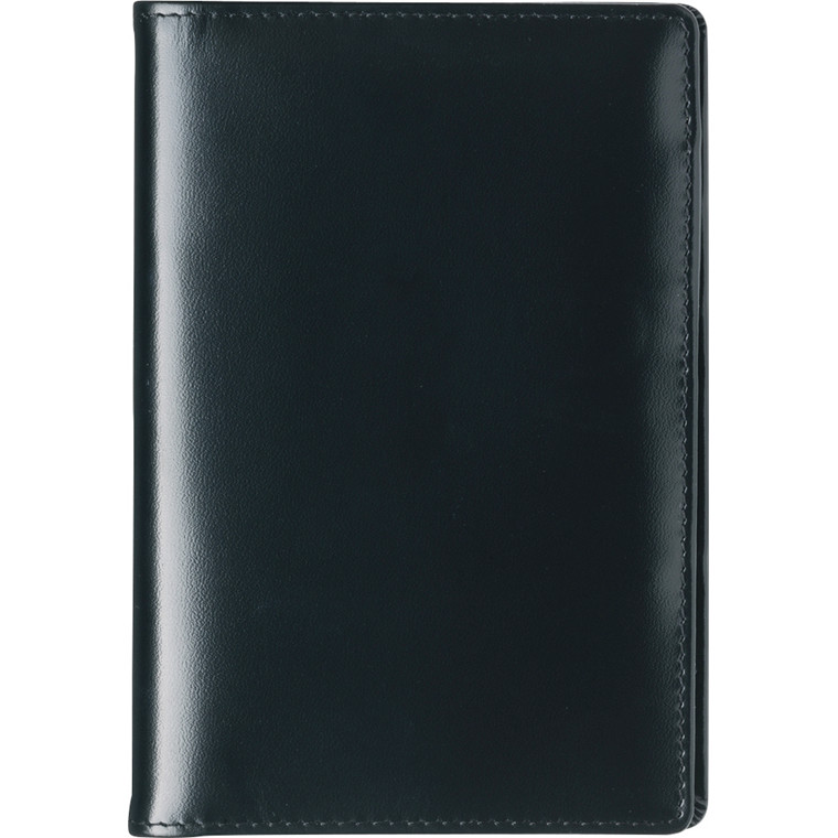 Mini Planner 2019 uge tværformat sort skind Mayland 8 x 12,6 cm - 19 0840 00