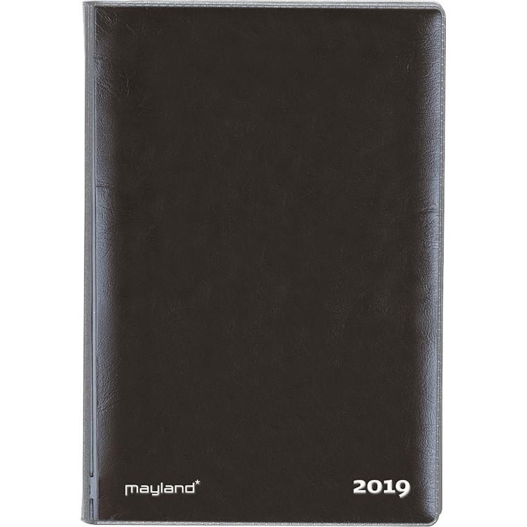 Mayland Mini Planner 2019 uge tværformat vinyl sort 8 x 12,6 cm - 19 0845 00