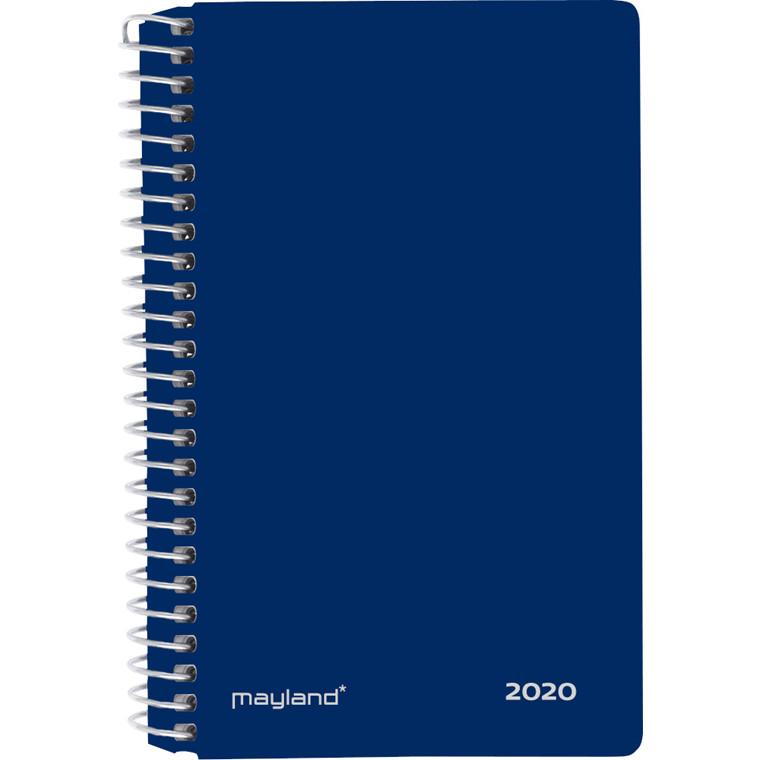 Minispiralkalender blå 8x13cm 2 dage/side 20 2350 00