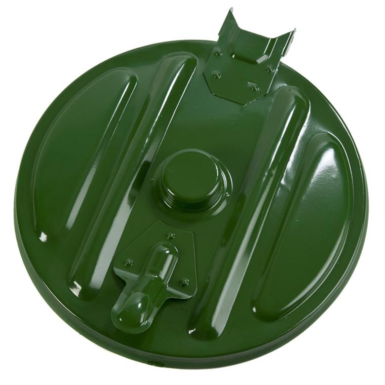 Mobil affaldsstativ, sækkeholder, kildesortering mulig, galvaniseret og grøn, 110 l