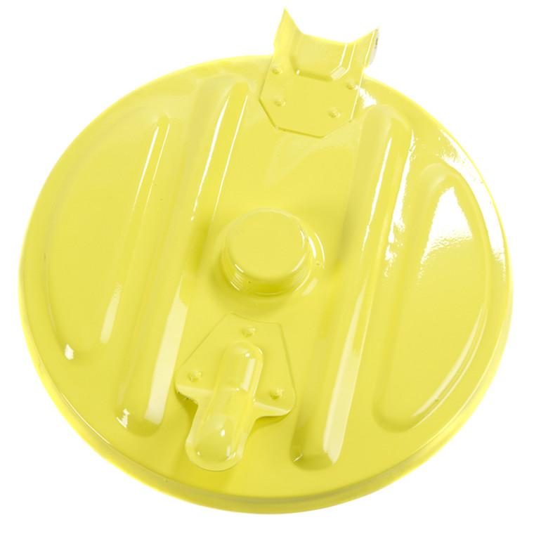 Mobil affaldsstativ, sækkeholder, kildesortering mulig, galvaniseret og gul, 110 l