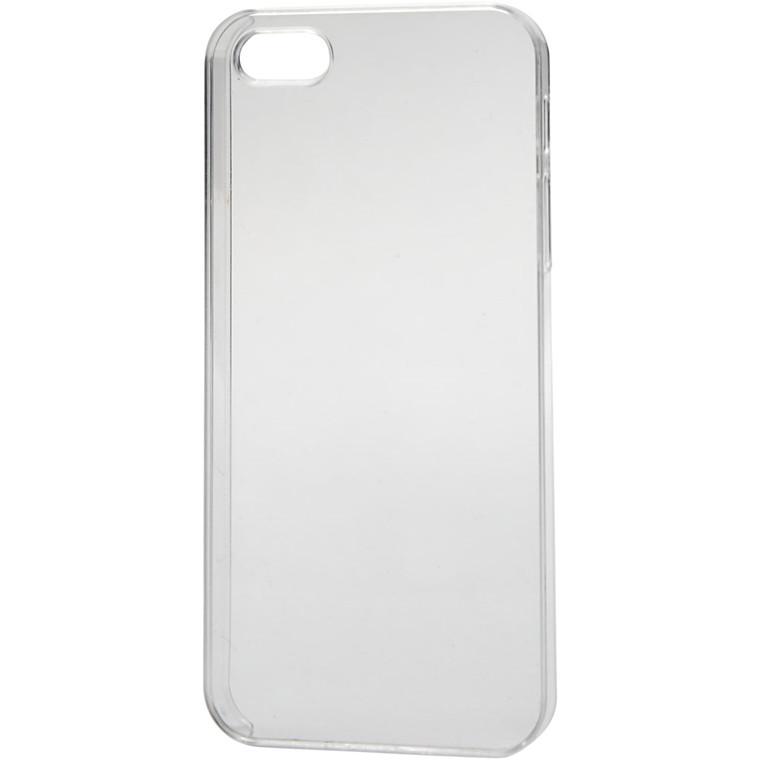 Mobilcover størrelse 6 x 12,5 cm tykkelse 10 mm transparent | 5/5S