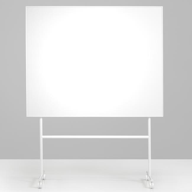 Mobiltavle - Lintex ONE whiteboard med hvidt stativ og ramme 150 x 120 cm