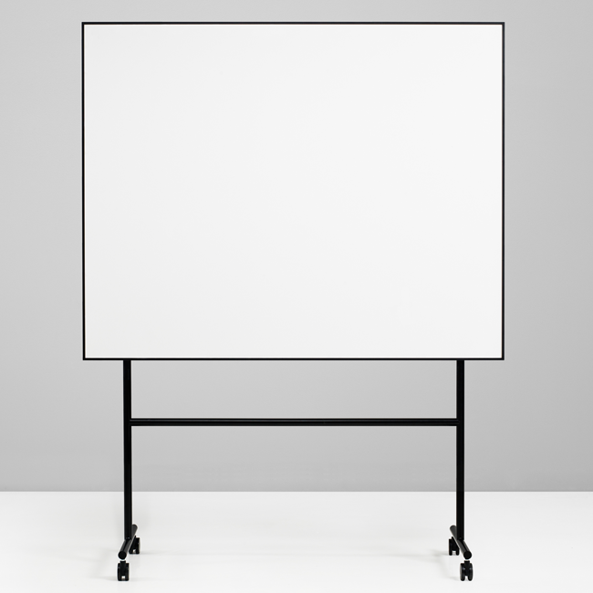 Whiteboard tavle på stativ - sort Lintex ONE whiteboard 200 x 120 cm