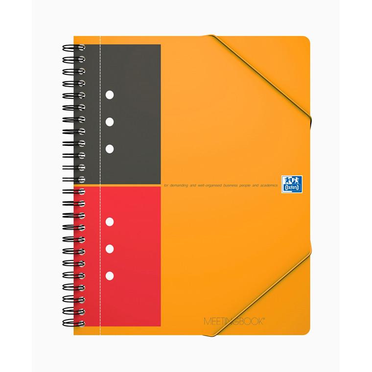 Oxford MeetingBook Mødebog - A5+ linjeret papir - 80 sider