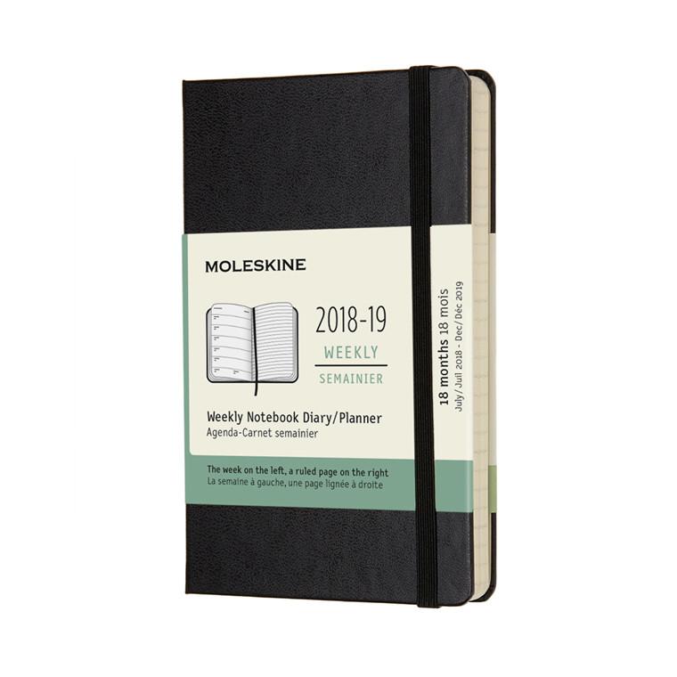 Moleskine 2018-19 Weekly Notebook Planner | Ugekalender 18 måneder 9 x 14 cm