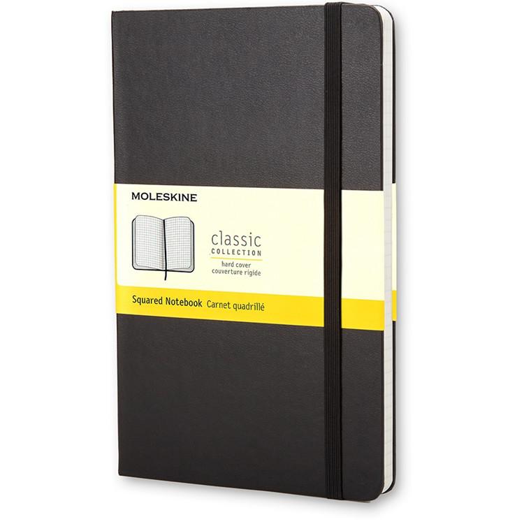 Moleskine Classic Pocket - Sort Lommebog Kvadreret  9 x 14 cm - 192 sider