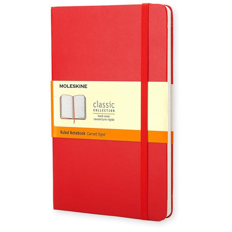 Moleskine Classic Pocket - Rød Lommebog 9 x 14 cm - 192 linjeret sider