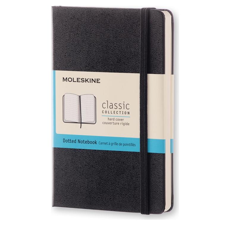 Moleskine Classic Pocket - Sort Lommebog 9 x 14 cm - 192 prikket sider