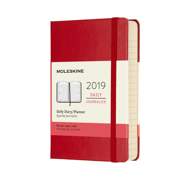 Moleskine Dagkalender 2019 | Scarlet Red 9 x 14 cm