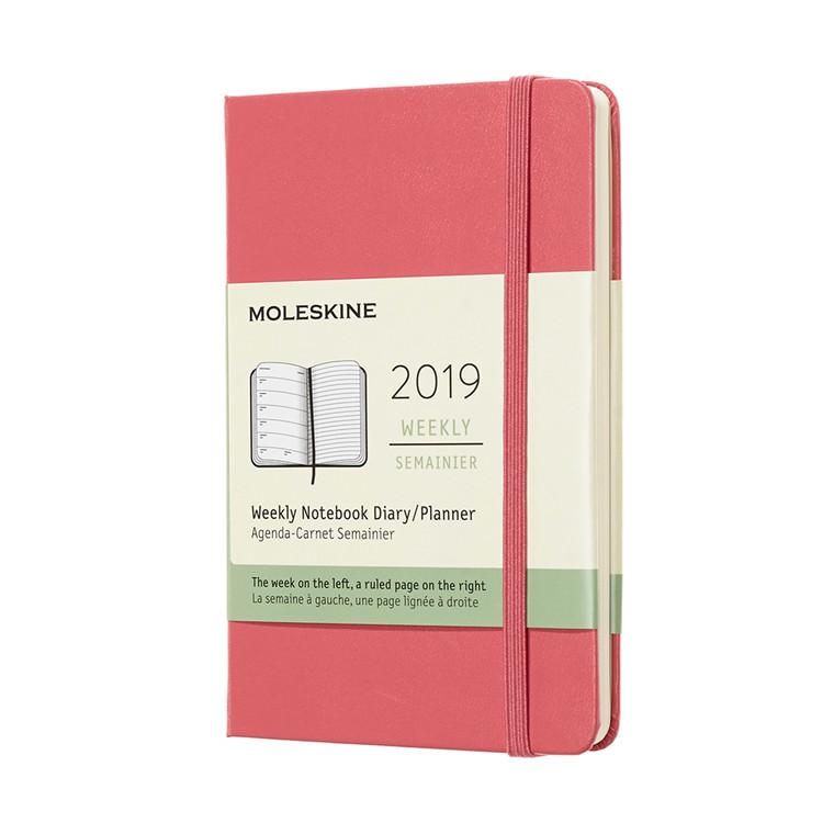 Moleskine Weekly Notebook 2019 | Ugekalender Daisy Pink 9 x 14 cm