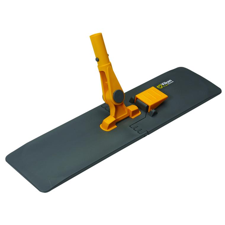Moppefremfører til lomme mopper, Vikan ErgoClean, med knæk, grå/gul, 40 cm