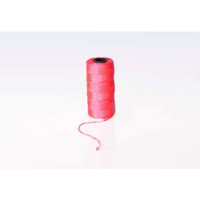 Mursnor pink nylon 100 g - 6/8 1,2 mm x 120 meter krydsspole