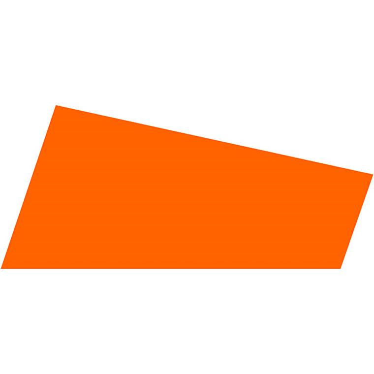 Mosgummi A4 21 x 30 cm tykkelse 2 mm orange - 10 ark