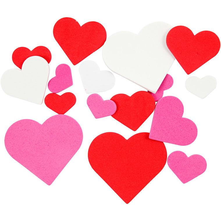 Mosgummi størrelse 20-45 mm tykkelse 2 mm assorteret farver hjerter | 200 stk.