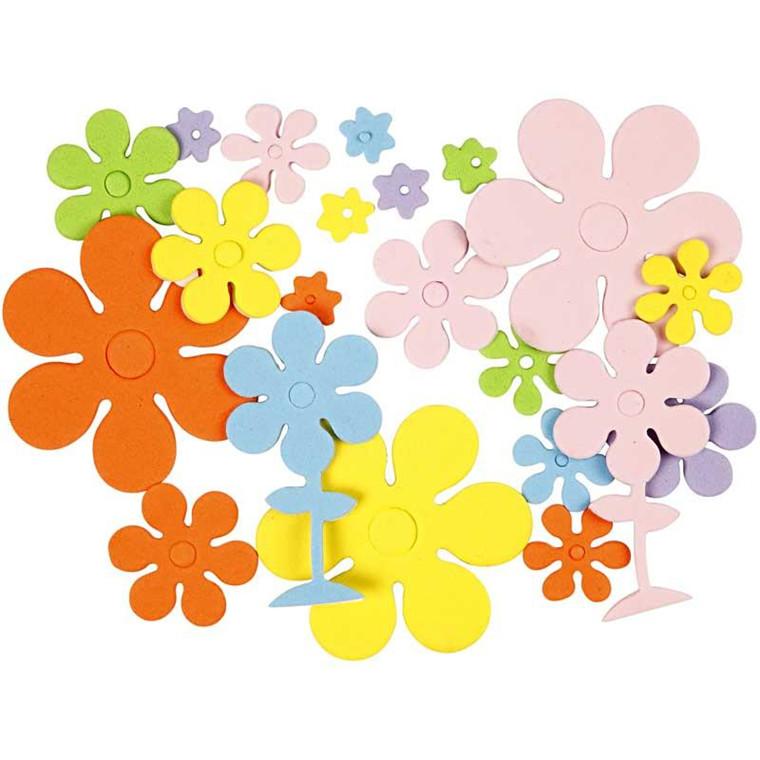 Mosgummifigurer størrelse 10-60 mm tykkelse 2 mm blomster | 670 stk.