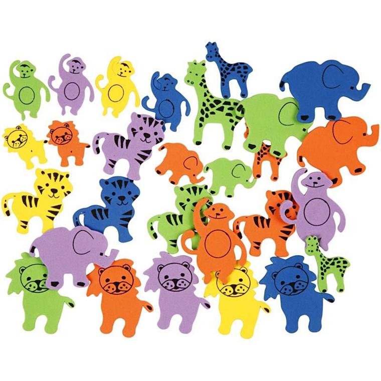 Mosgummi figurer størrelse 25-45 mm tykkelse 2 mm dyr med print | 90 stk.
