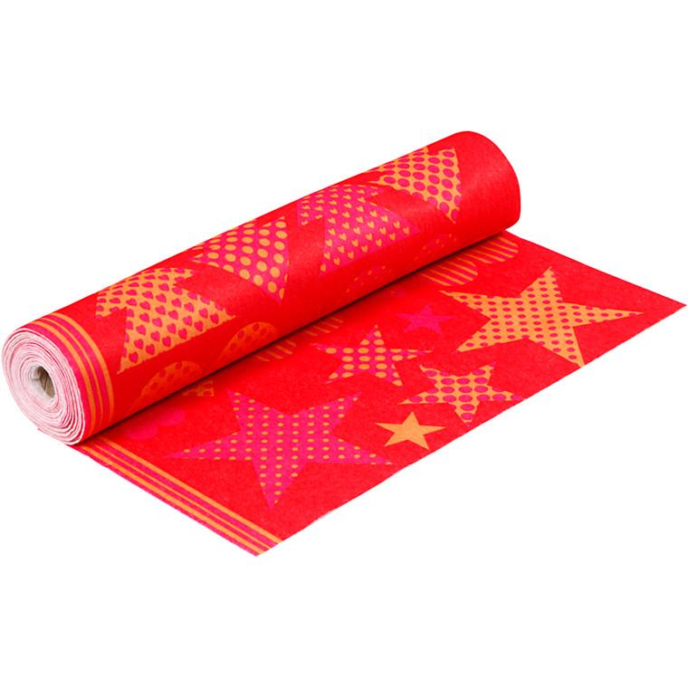 Motivfilt Bredde 45 cm tykkelse 1,5 mm rød/orange | 5 meter