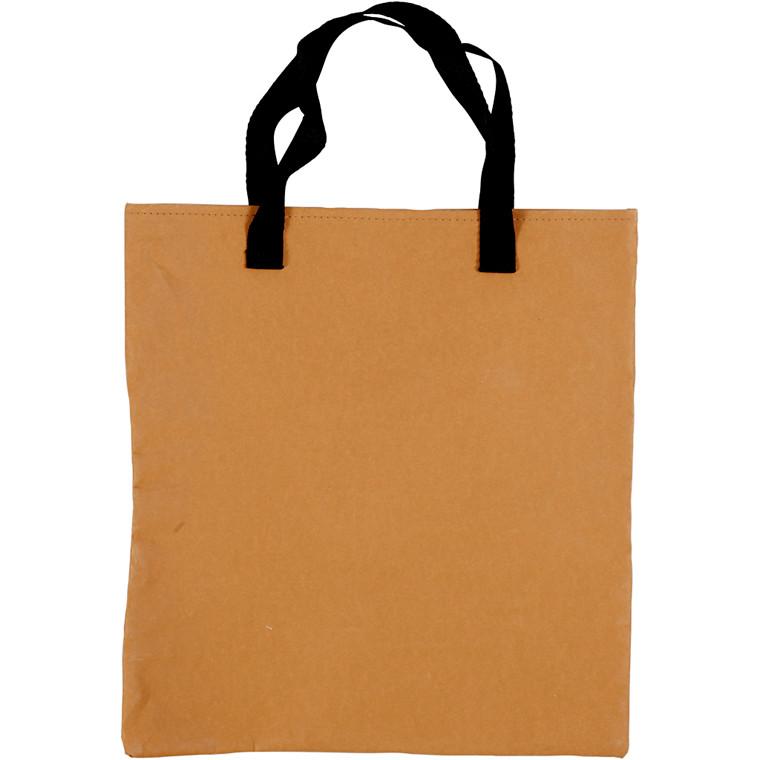 Mulepose størrelse 35 x 38 cm | lys brun