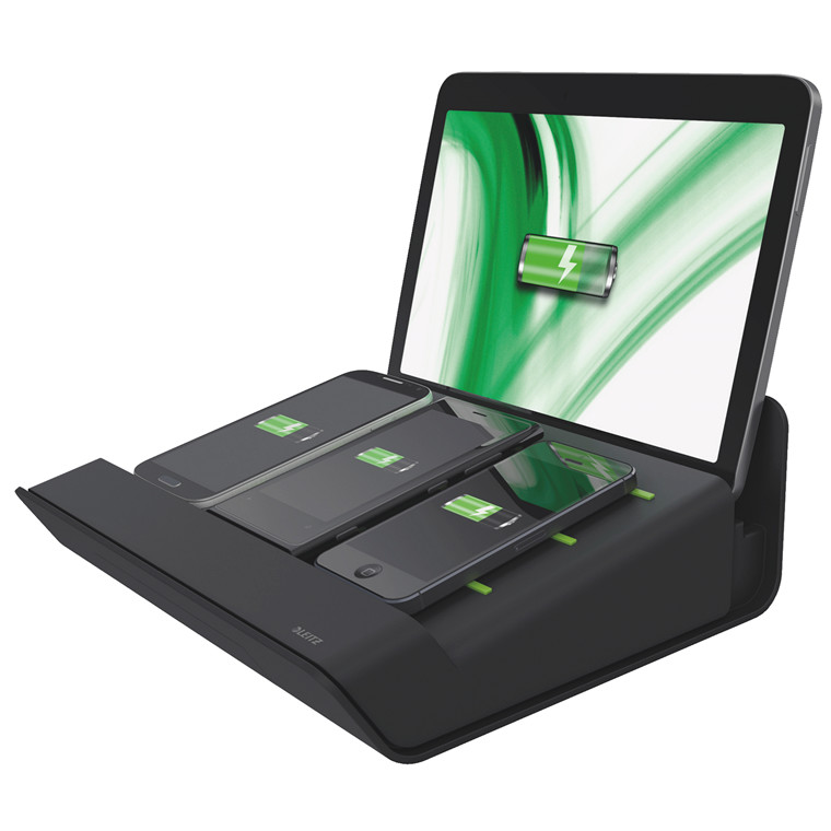 Multioplader Leitz XL sort til mobile enheder
