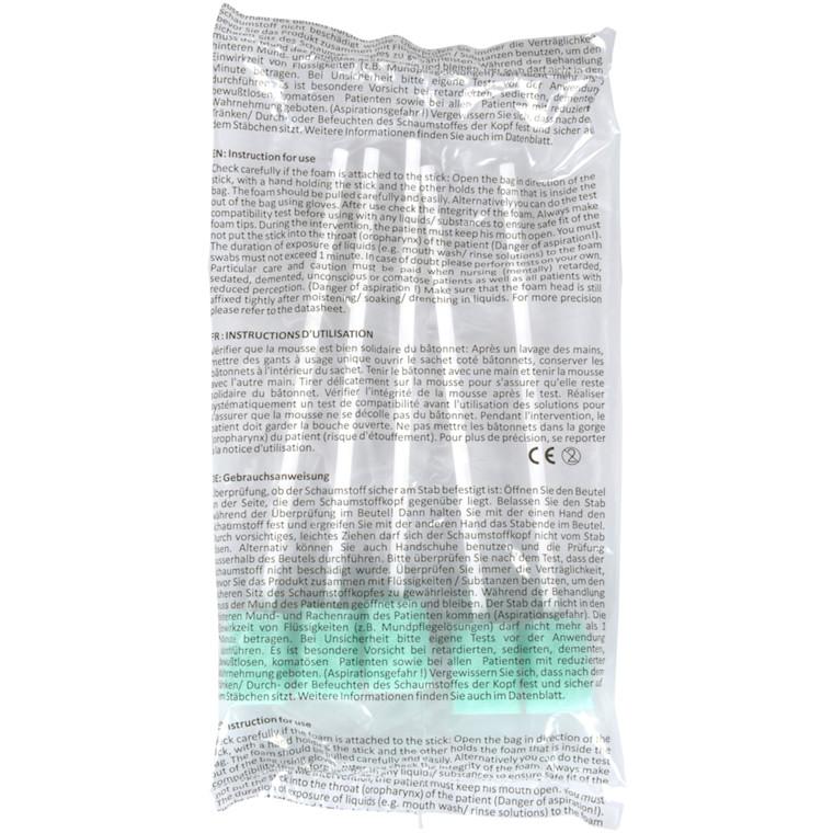 Mundrensepind, med skumgummi, tørre, grøn, skum:omk.5,2x2,3cm, 14,70 cm