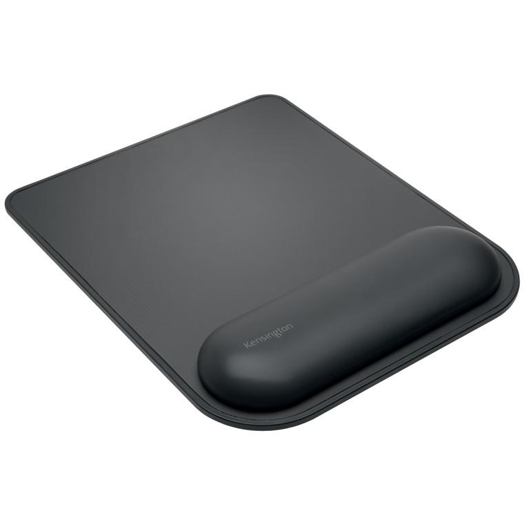 Musemåtte ErgoSoft sort m håndledsst. til standard mus