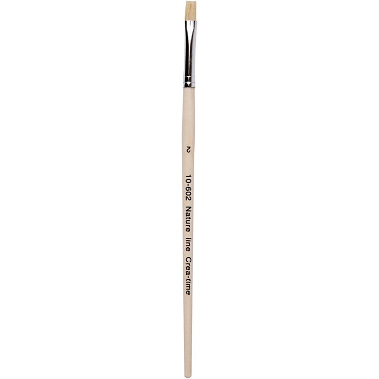 Nature Line Pensler, nr. 2 , B: 6 mm, kort skaft, 12stk.