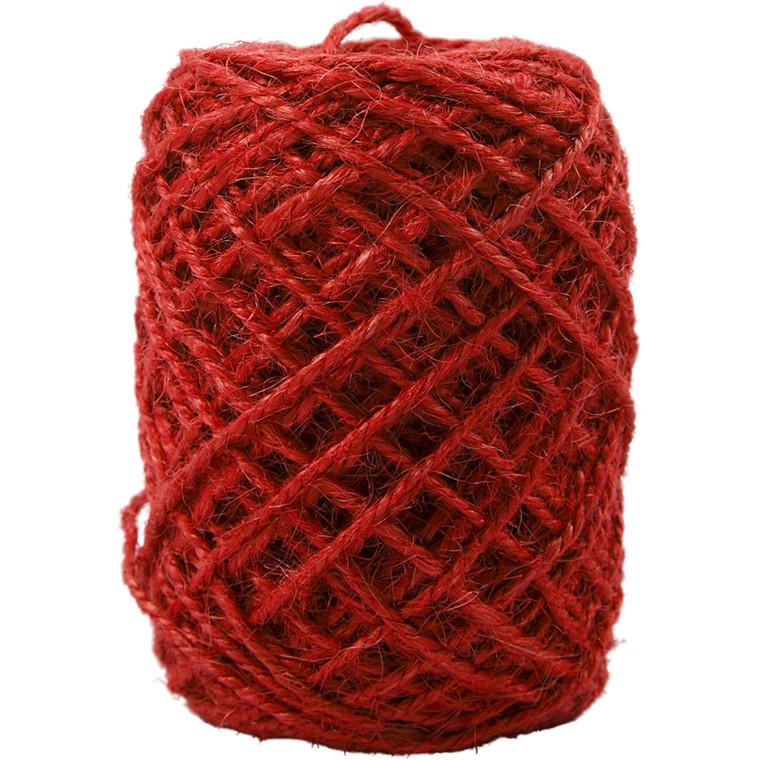 Naturhamp rød tykkelse 1-2 mm - 150 meter