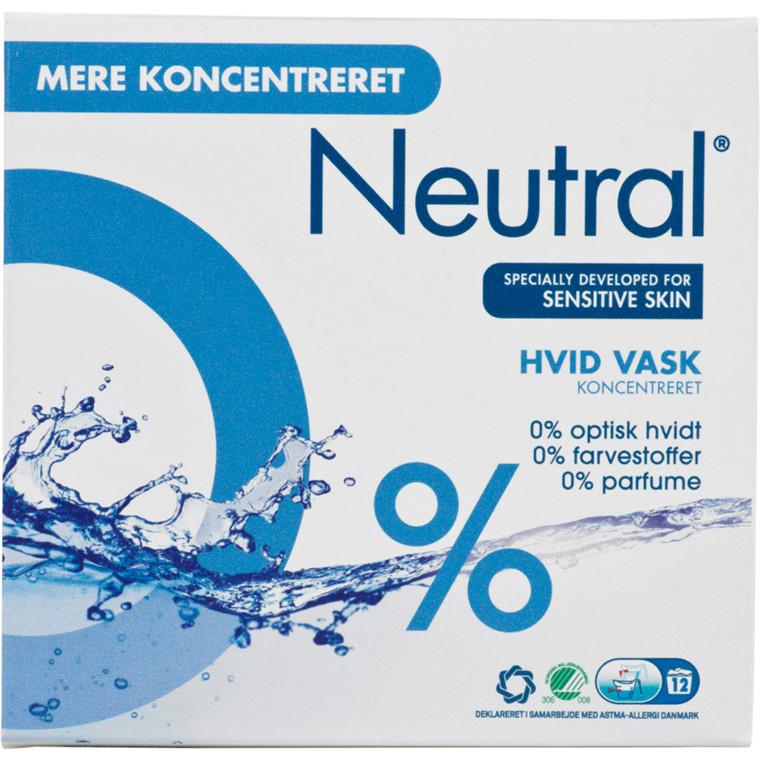 Neutral koncentreret vaskepulver, hvidvask, 14 vaske, 675 g