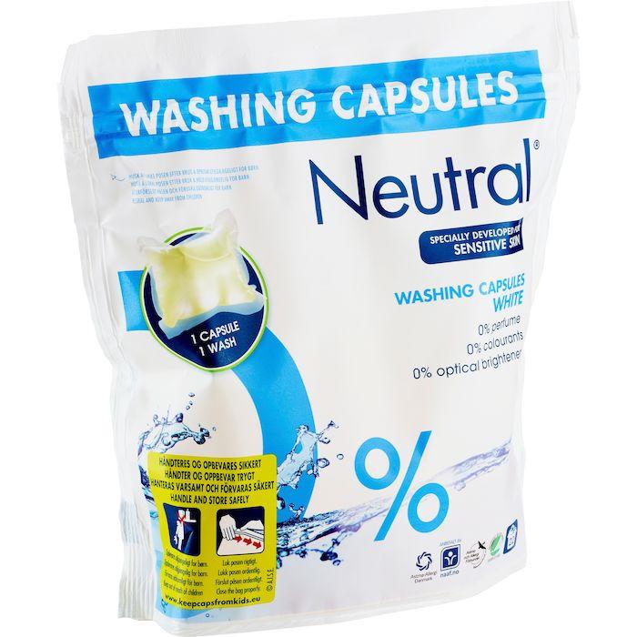 Neutral vaskekapsler til hvid vask - 28 ml pr. kapsel