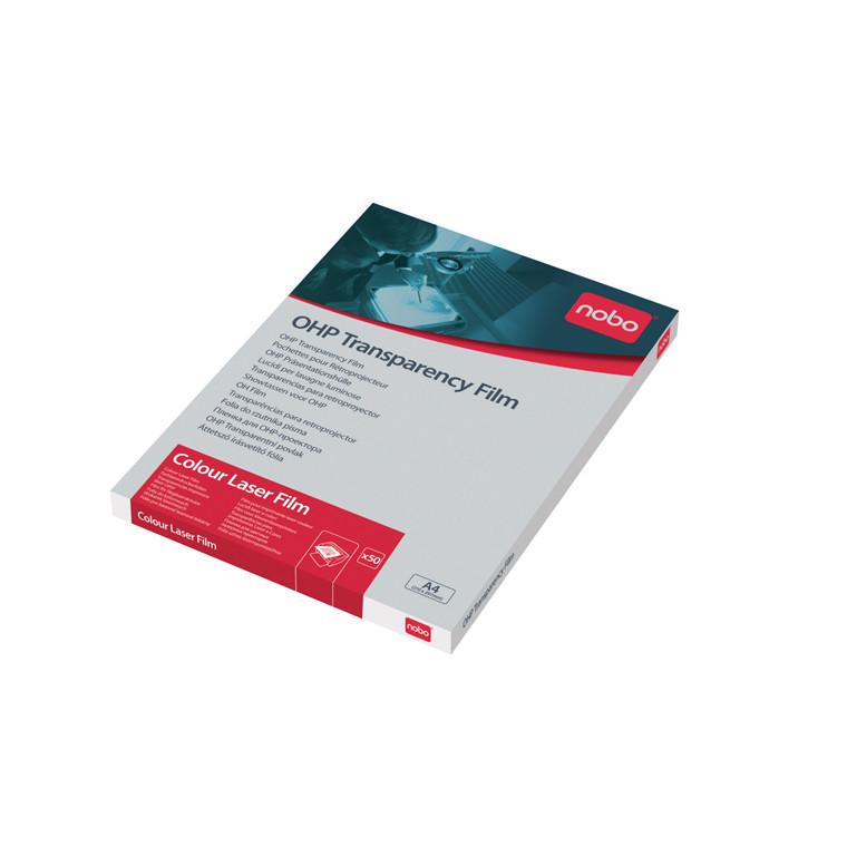 Nobo Transparenter A4 - Til farvelaser printer - 50 stk