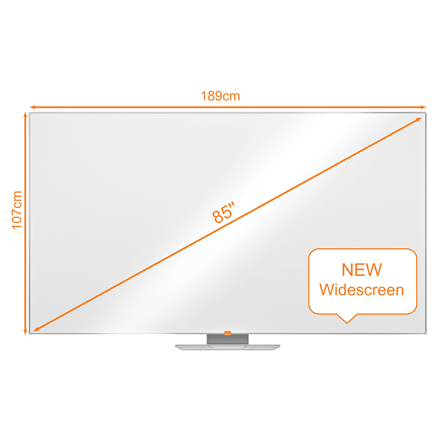 "Nobo WB tavle NanoClean widescreen 85"""