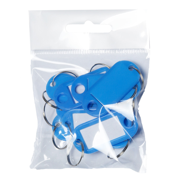 Nøglebrikker BNT plast PET blå