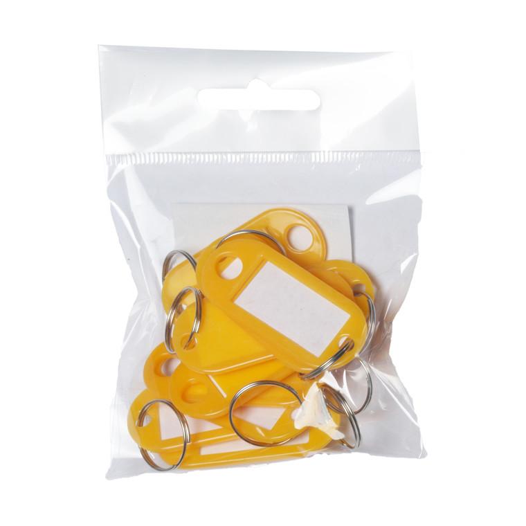 Nøglebrikker BNT plast PET gul
