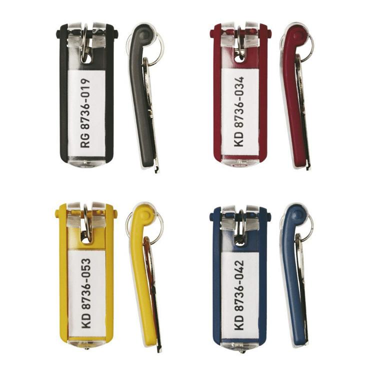 Nøgleskilte til Durable Keybox ass. farver 65x25mm 6stk/ps
