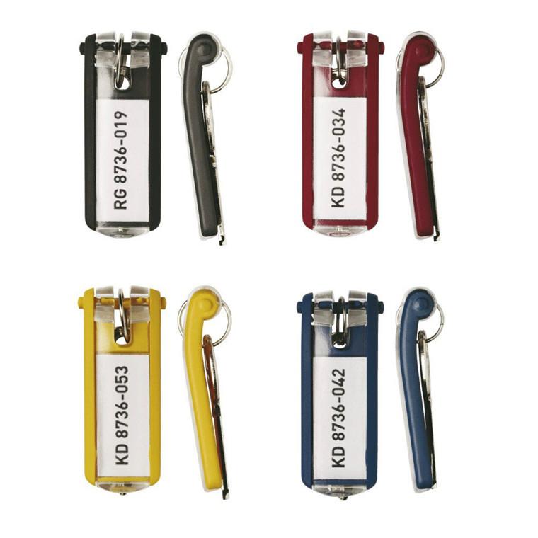 Nøgleskilte til Durable Keybox -  ass. farver 65 x 25 mm