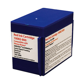 Pitney Bowes DM300C - Kompatibel rød blæk