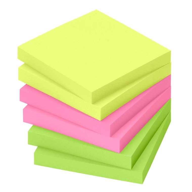Notes - Info Brilliantfarve mix 75 x 75 mm 80 ark - 6 blokke
