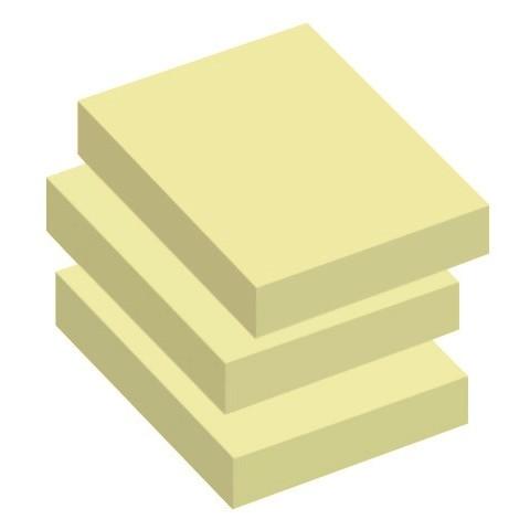 Notes -  Info gul 50 x 40 mm 100 ark - 12 blokke