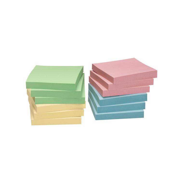 Notes - Nature Pastelfarve mix genbrugspapir 75 x 75 mm - 12 blokke