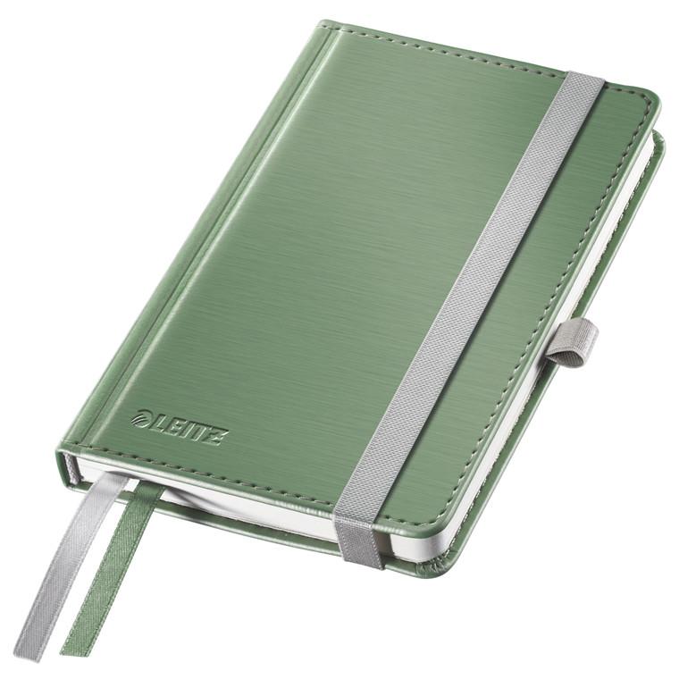 Notesblok A6 Leitz Style - Grøn hardcover linjeret 96 gram papir - 80 sider