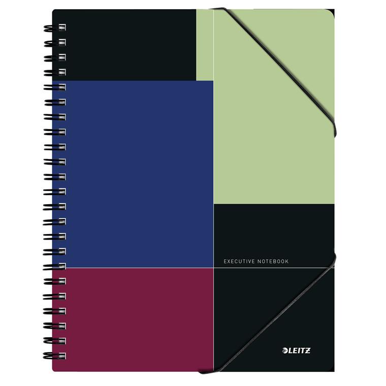 Notesblok Leitz Be Mobile Executive A4 kvadreret - Wireindbundet med PP omslag - 80 sider