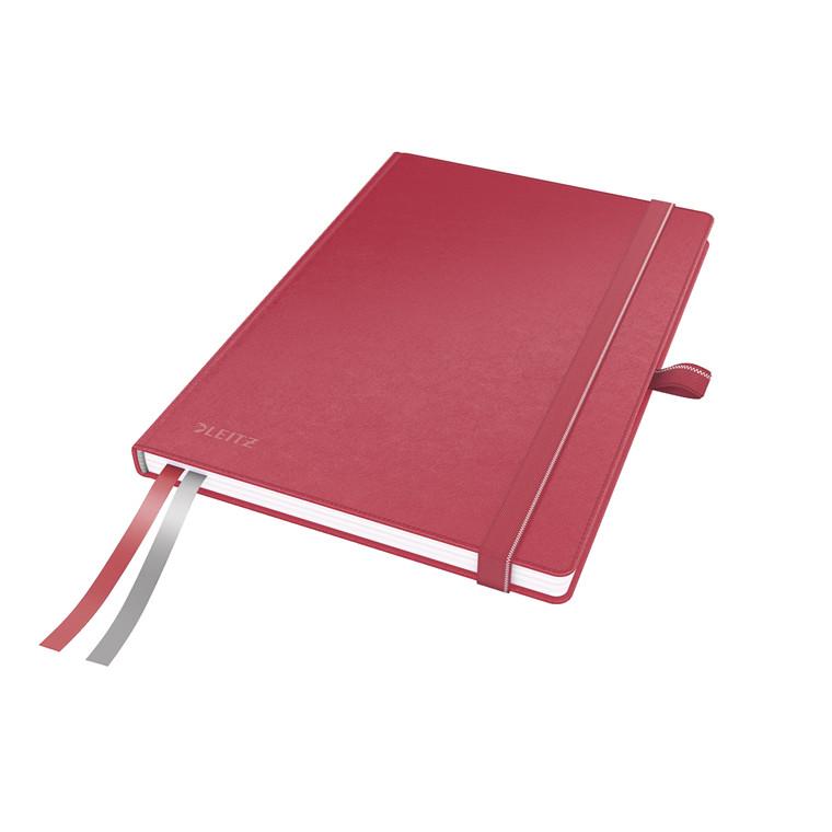 Notesbog Leitz Complete A5 - Rød med linjeret 96 gram papir - 80 sider