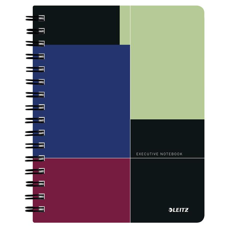 Leitz Notesblok Executive PP A5 kvadreret - Wireindbundet med PP omslag