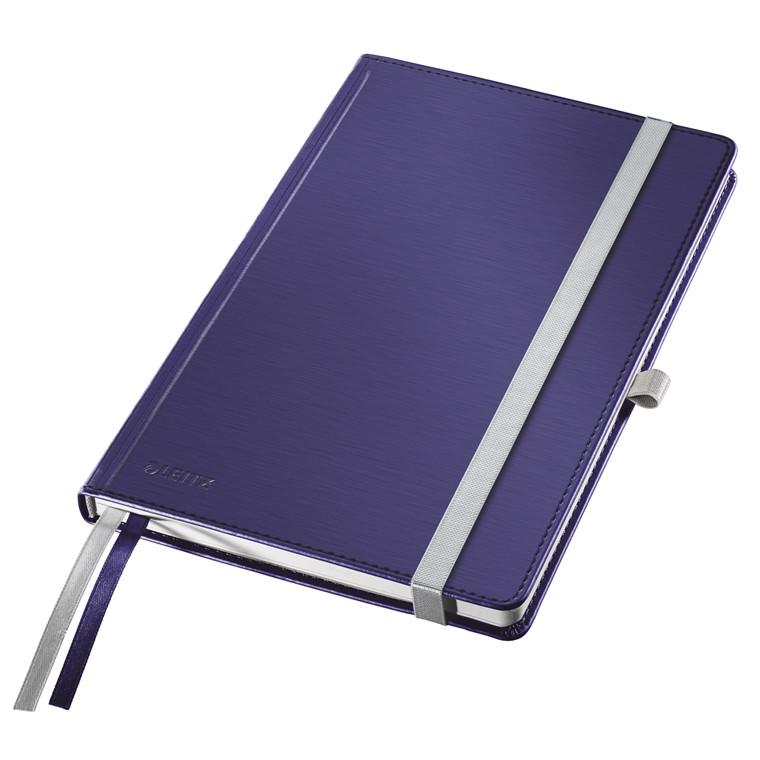 Leitz Style Notesbog A5 - Blå hardcover linjeret 96 gram papir - 80 sider