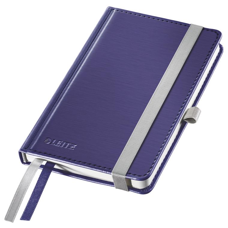 Leitz Style Notesbog A6 - Titan blå hardcover linjeret 96 gram papir - 80 sider