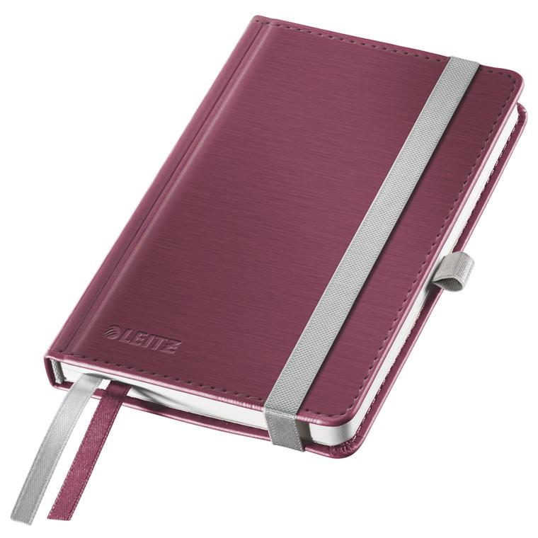 Leitz Notesbog Style A6 - Rød hardcover linjeret 96 gram papir - 80 sider