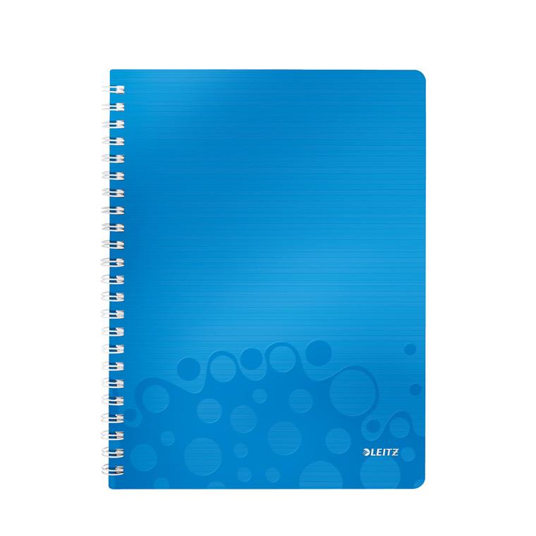 Leitz WOW PP A4 Notesblok - Blå med linjeret papir - 80 ark