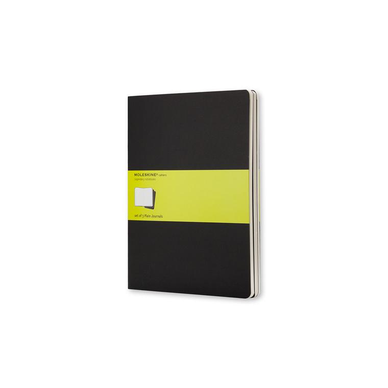 Notesbog MOLESKINE Cahier Journal ulinieret XL 3-pack
